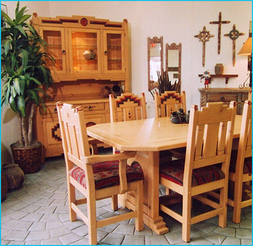 Anasazi, Southwest Dining Set, Tables, Trestle Tables