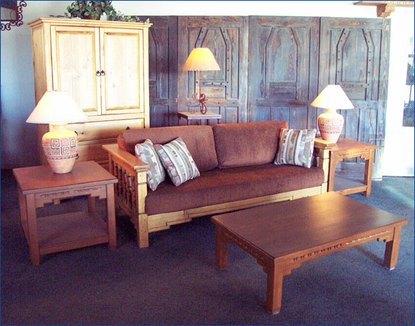 Southwestern Living Room Set Aurora, Sofa, Chairs