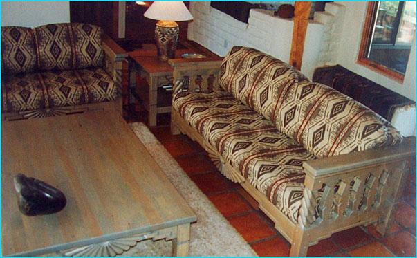 Southwestern Living Room Set Aurora Sofa Chairs