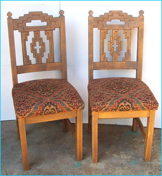 Cruz, Southwest Style Round Dining Set, Tables, Chairs