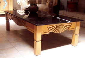 Aurora Living Room Coffee Table With optional marble Top