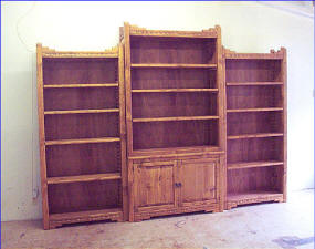 New Mexico Three Piece Book Case System