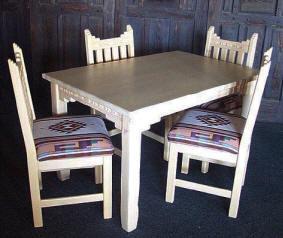 New Mexico Southwest Style Dining Set Tables Chairs