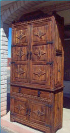 Weathered Wood Style 2 Piece Cabinet