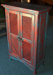 Taos Pies Safe Cabinet With Salt Cedar Twig Inserts