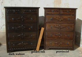 Weathered Wood Style Chest Of 6 Drawers