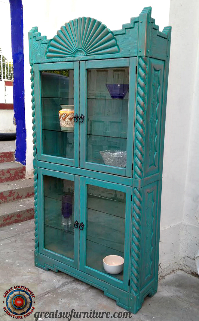 Santa Fe Curio Cabinet Glass Door