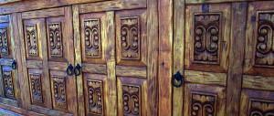 Old World Carving Detail In Panels #2