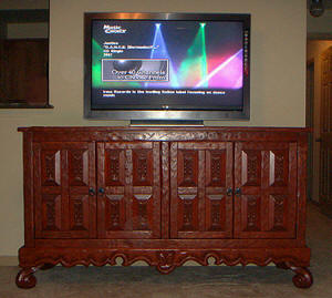 Old World Buffet-Cabinet Plasma TV Stand