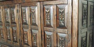 Old World Carving Detail In Panels #1