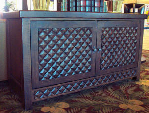 Old World Diamond Door Buffet