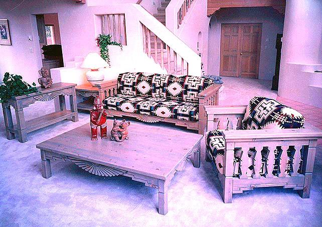 southwestern living room set sofa chairs