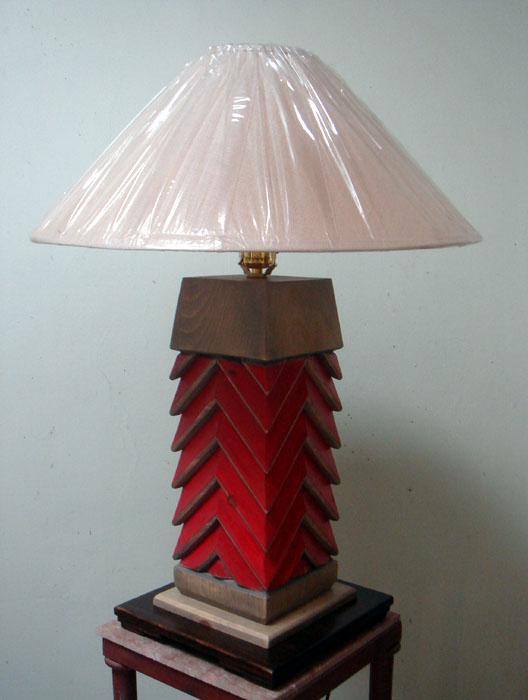 Navajo Custom Made Wood Table Lamp
